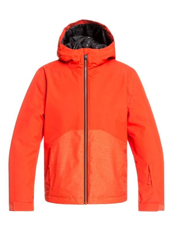 0 Boy's 8-16 Sierra Snow Jacket Orange EQBTJ03095 Quiksilver