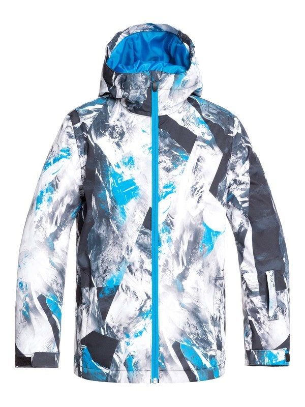 0 Boy's 8-16 Mission Snow Jacket Blue EQBTJ03098 Quiksilver