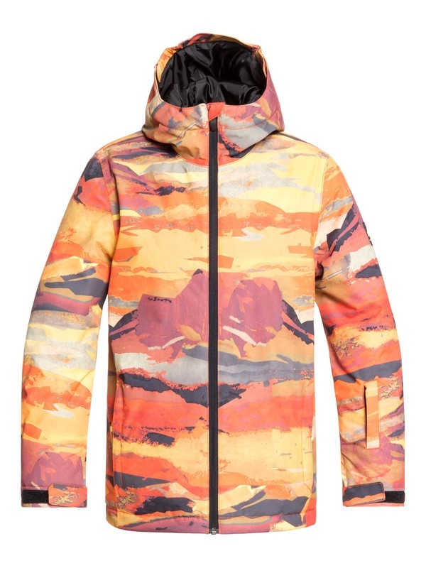 0 Boy's 8-16 Mission Snow Jacket Red EQBTJ03098 Quiksilver