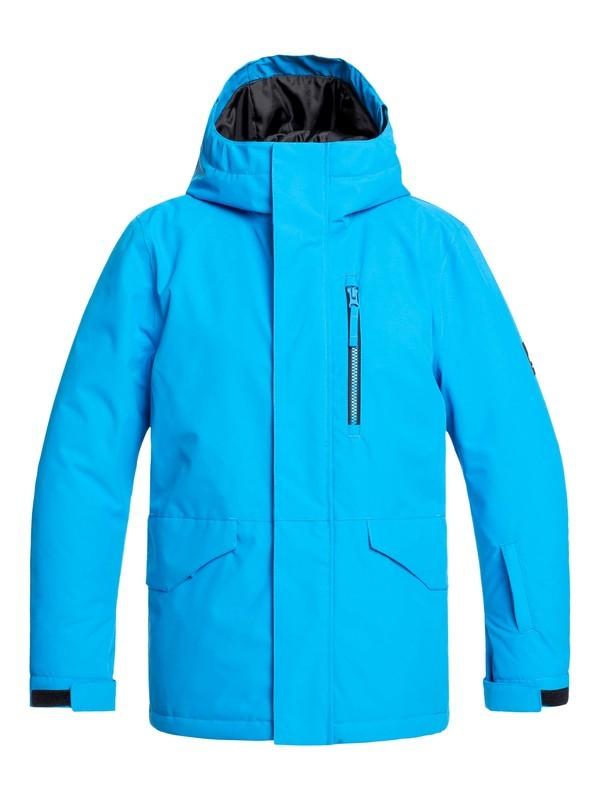 0 Boy's 8-16 Mission Snow Jacket Blue EQBTJ03099 Quiksilver