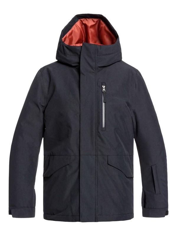 0 Boy's 8-16 Mission Snow Jacket Black EQBTJ03099 Quiksilver