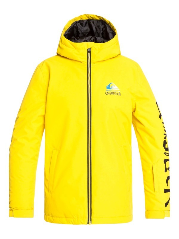 0 Boy's 8-16 In The Hood Snow Jacket Green EQBTJ03100 Quiksilver