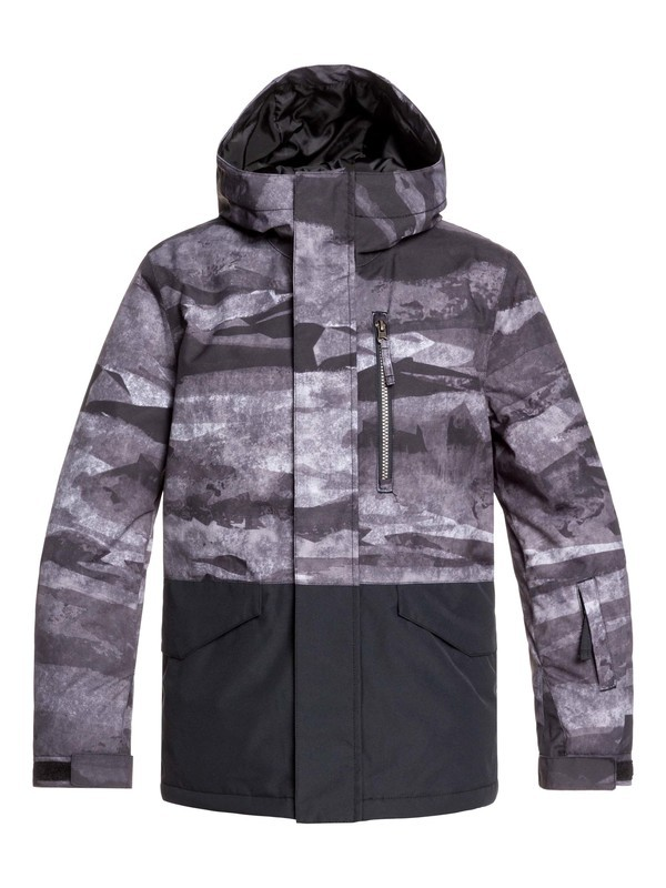 0 Boy's 8-16 Mission Block Snow Jacket Black EQBTJ03101 Quiksilver