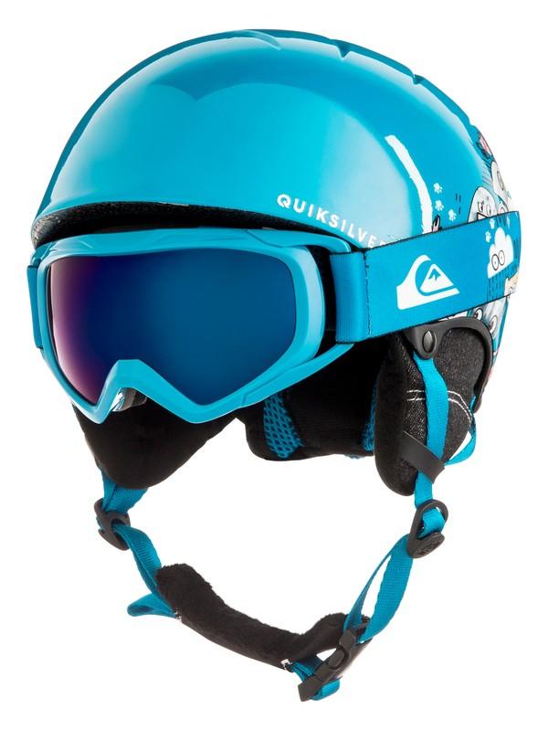 0 The Game Pack - Conjunto de casco y máscara para Chicos 8-16 Azul EQBTL03001 Quiksilver