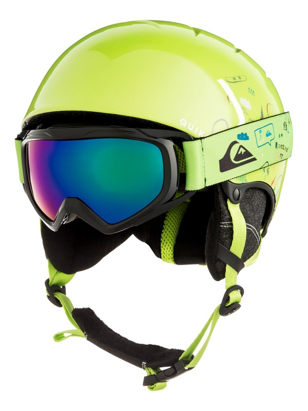 0 The Game Pack - Conjunto de casco y máscara para Chicos 8-16 Verde EQBTL03001 Quiksilver