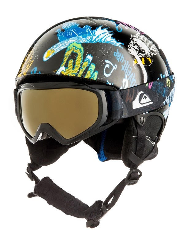 0 Boy's 8-16 The Game Pack Snowboard/Ski Helmet Black EQBTL03001 Quiksilver