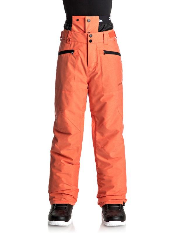 0 Сноубордические штаны Boundry Оранжевый EQBTP03014 Quiksilver