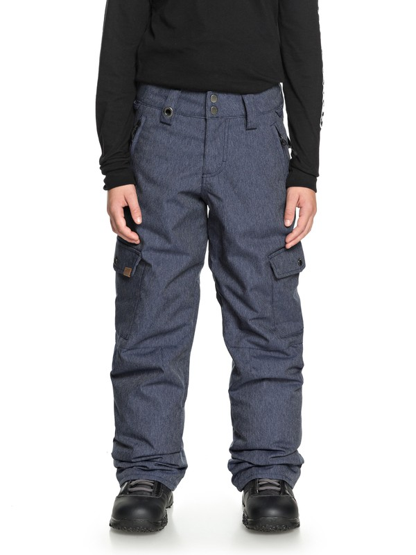 0 Porter - Cargo Snow Pants for Boys 8-16 Blue EQBTP03017 Quiksilver