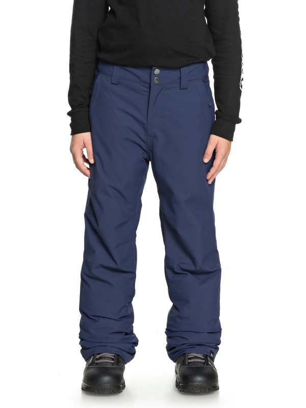 0 Boy's 8-16 Estate Snow Pants Blue EQBTP03018 Quiksilver