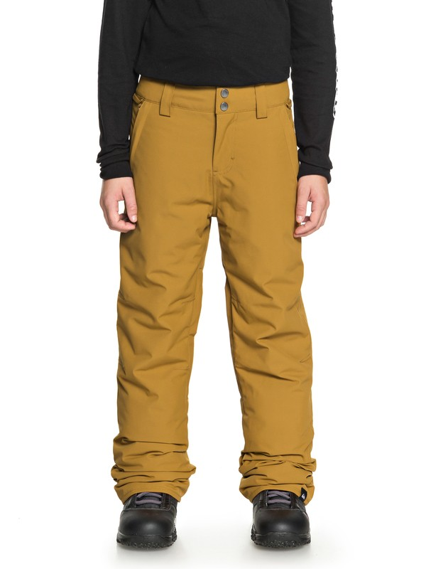 0 Boy's 8-16 Estate Snow Pants Brown EQBTP03018 Quiksilver