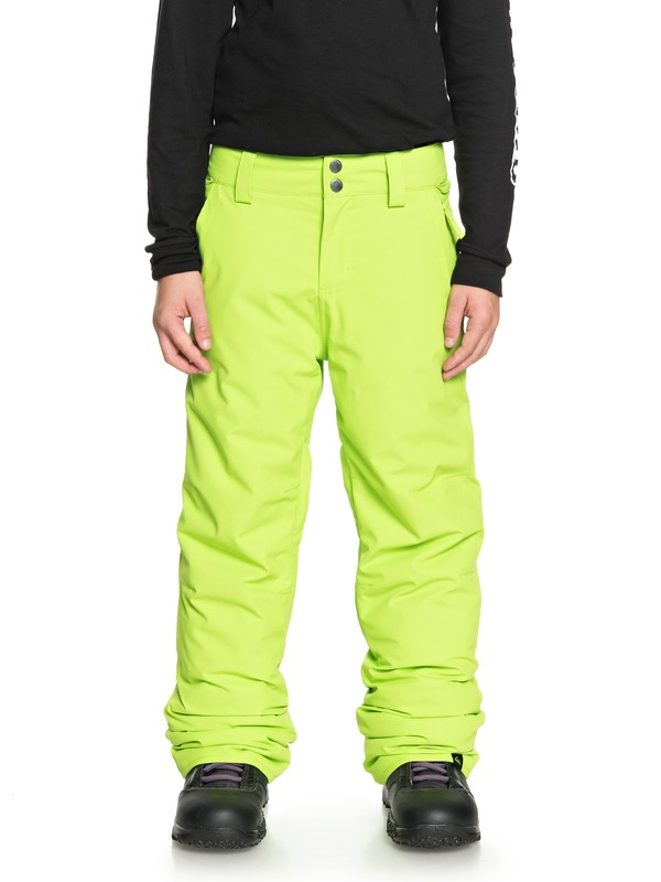 0 Boy's 8-16 Estate Snow Pants Green EQBTP03018 Quiksilver
