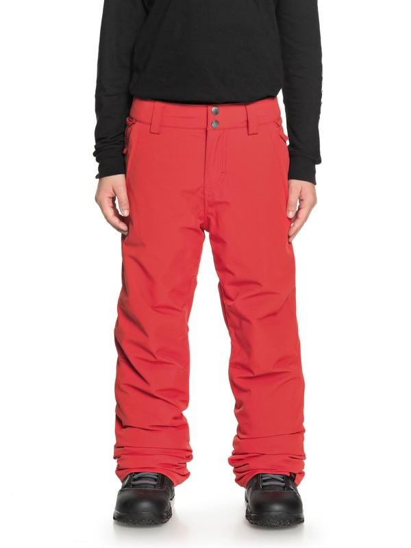 0 Boy's 8-16 Estate Snow Pants Red EQBTP03018 Quiksilver