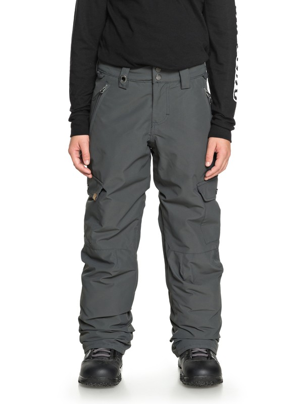 0 Boy's 8-16 Porter Snow Pants Black EQBTP03022 Quiksilver