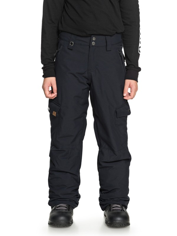 0 Porter - Snow Pants for Boys 8-16 Black EQBTP03022 Quiksilver