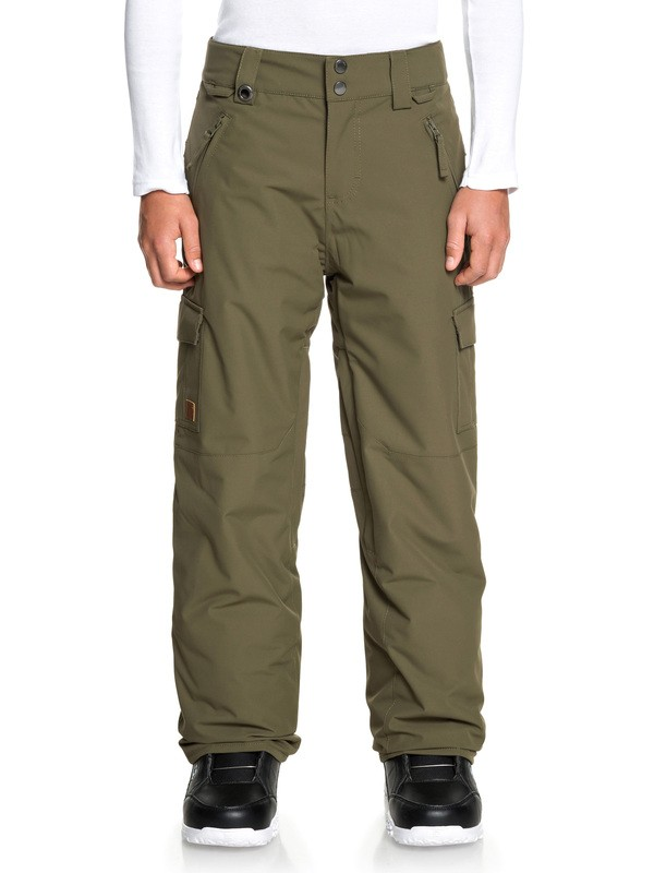 0 Boy's 8-16 Porter Snow Pants Brown EQBTP03024 Quiksilver