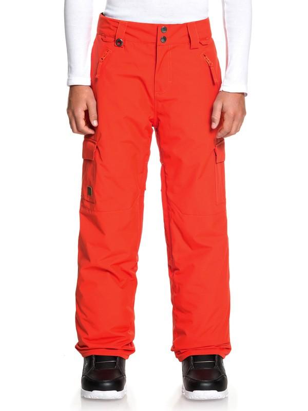 0 Boy's 8-16 Porter Snow Pants Orange EQBTP03024 Quiksilver