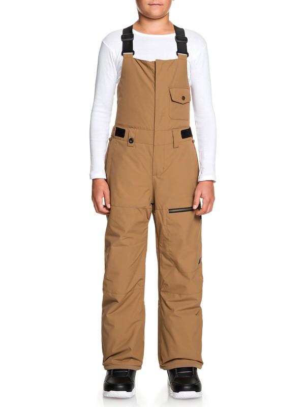 0 Boy's 8-16 Utility Snow Bib Pants Brown EQBTP03025 Quiksilver