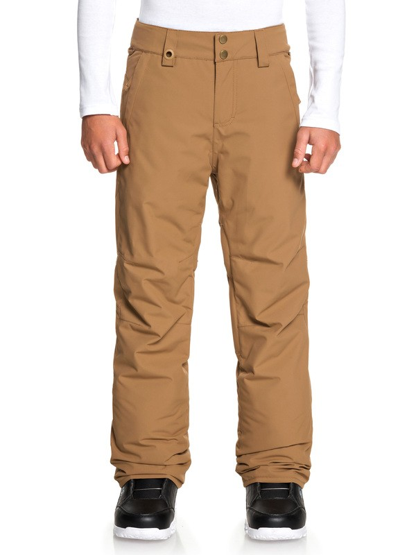 0 Boy's 8-16 Estate Snow Pants Brown EQBTP03026 Quiksilver