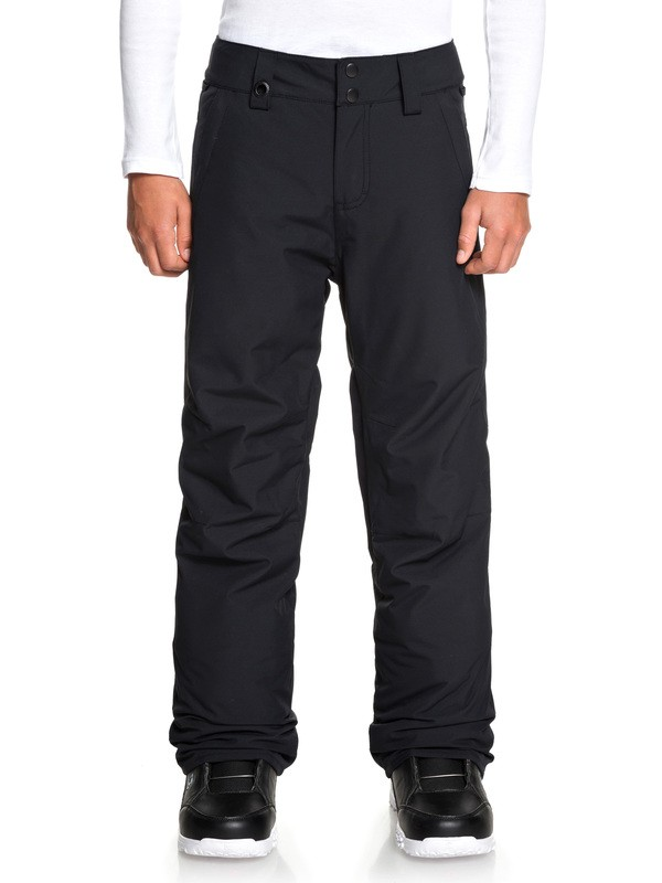 0 Boy's 8-16 Estate Snow Pants Black EQBTP03026 Quiksilver