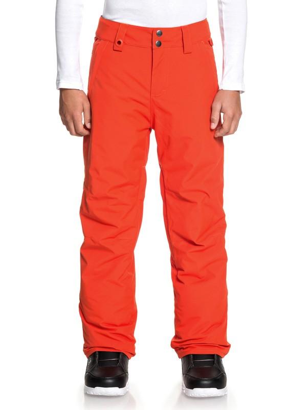 0 Estate - Snow Pants Orange EQBTP03026 Quiksilver