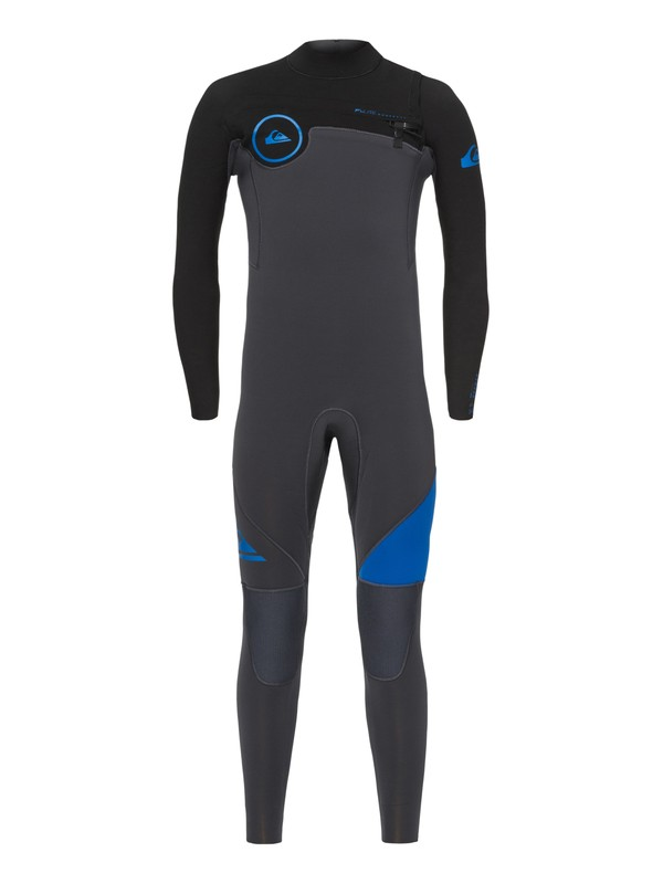 0 4/3mm Syncro Series - Chest Zip GBS Wetsuit for Boys 8-16 Blue EQBW103021 Quiksilver