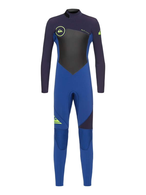 0 3/2mm Syncro Series - Back Zip GBS Wetsuit for Boys 8-16 Blue EQBW103023 Quiksilver