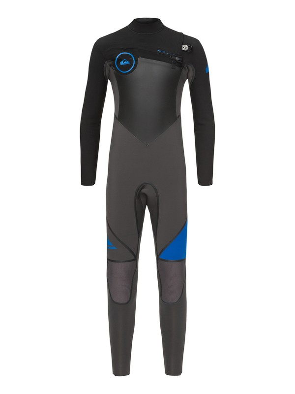 0 Boy's 8-16 3/2mm Syncro Plus Chest Zip Wetsuit Multicolor EQBW103026 Quiksilver