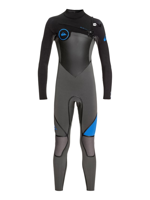 0 Boy's 8-16 4/3mm Syncro Plus Chest Zip Wetsuit Multicolor EQBW103029 Quiksilver