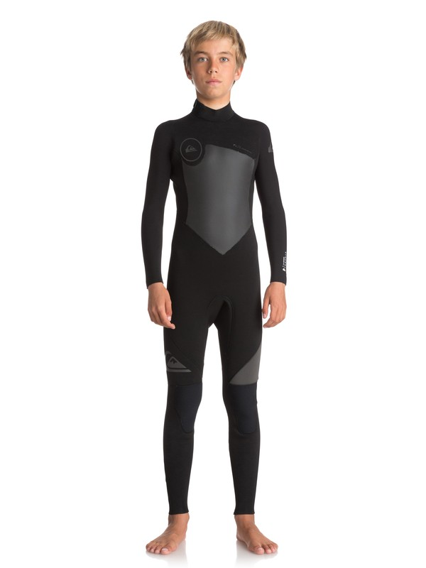 0 Boy's 8-16 5/4/3mm Syncro Series Back Zip GBS Wetsuit Black EQBW103030 Quiksilver