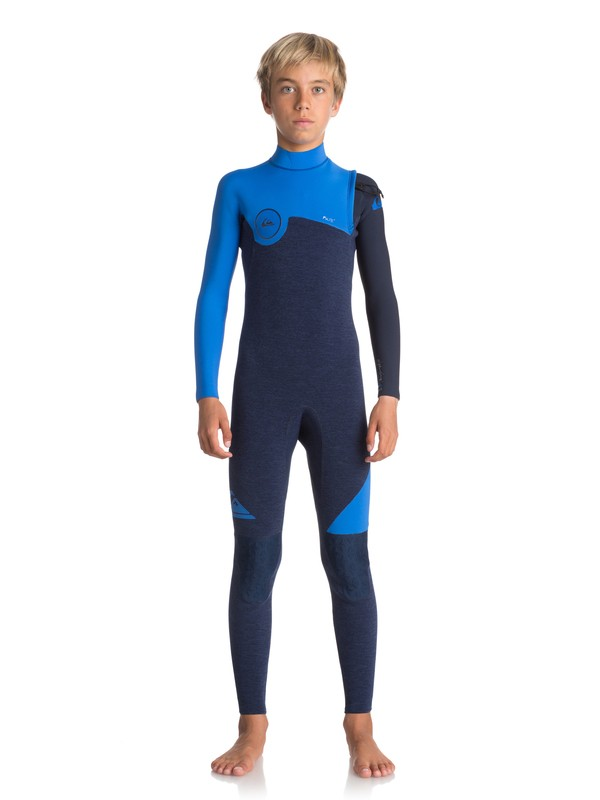 0 3/2mm Highline Series - Zipperless Wetsuit for Boys 8-16 Blue EQBW103034 Quiksilver
