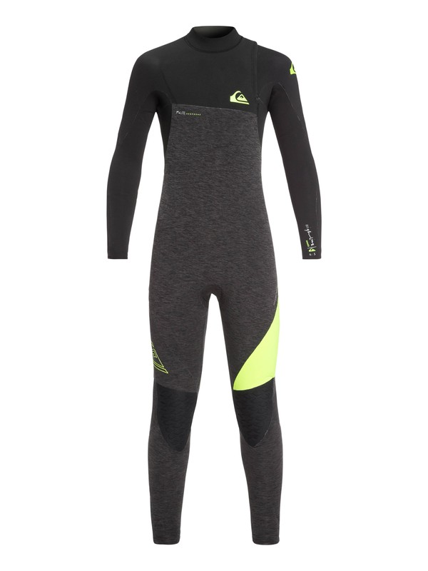 0 Boy's 8-16 4/3mm Highline Series Zipperless Wetsuit Brown EQBW103035 Quiksilver