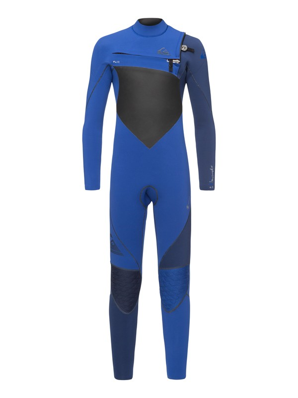 0 4/3mm Highline Plus - Chest Zip Wetsuit for Boys 8-16 Orange EQBW103037 Quiksilver