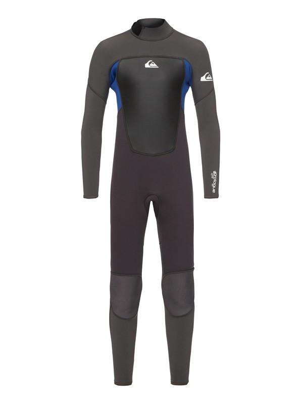 0 4/3mm Prologue - Back Zip Wetsuit Black EQBW103038 Quiksilver
