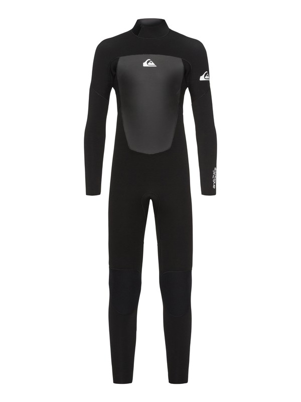 0 Boy's 8-16 3/2mm Prologue Back Zip Wetsuit Black EQBW103039 Quiksilver