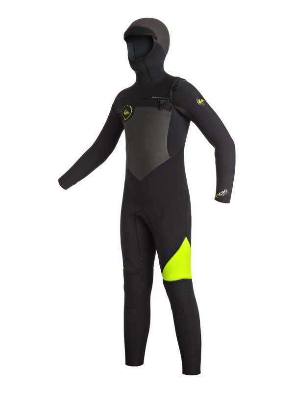 0 Syncro 5/4/3mm - Chest Zip Hooded Full Wetsuit  EQBW203000 Quiksilver