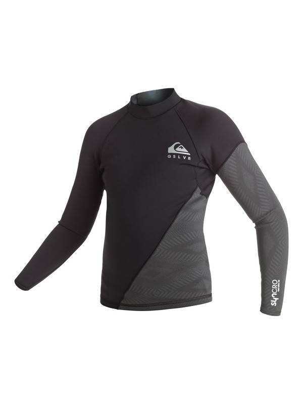 0 1mm Syncro New Wave - Long Sleeve Neoprene Top for Boys 8-16 Black EQBW803001 Quiksilver