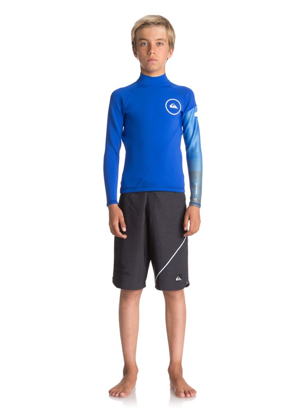 0 Boy's 8-16 1mm Syncro Series Long Sleeve Neoprene Surf Top Purple EQBW803003 Quiksilver