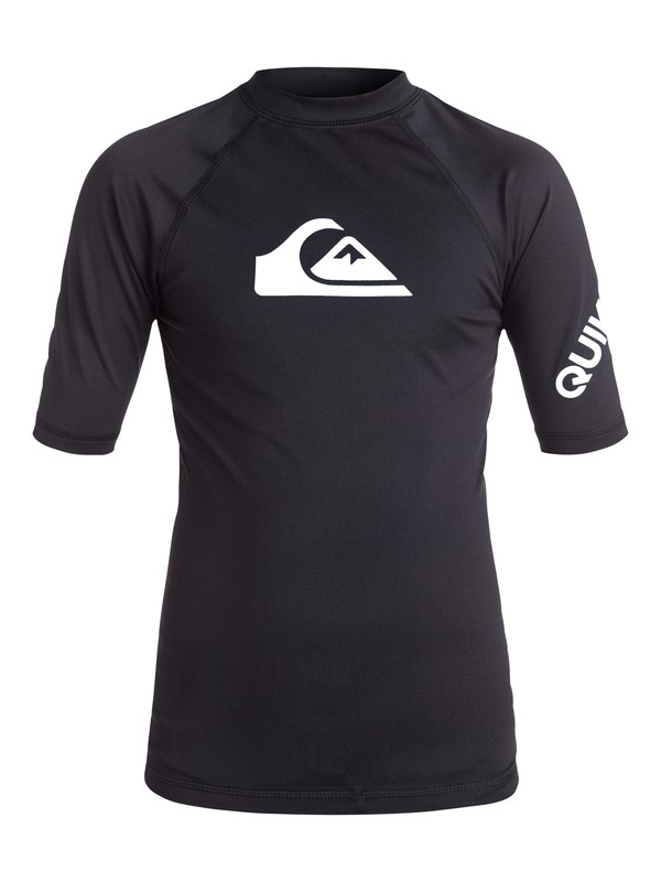 0 Boy's 8-16 All Time Short Sleeve UPF 50 Rashguard  EQBWR03006 Quiksilver