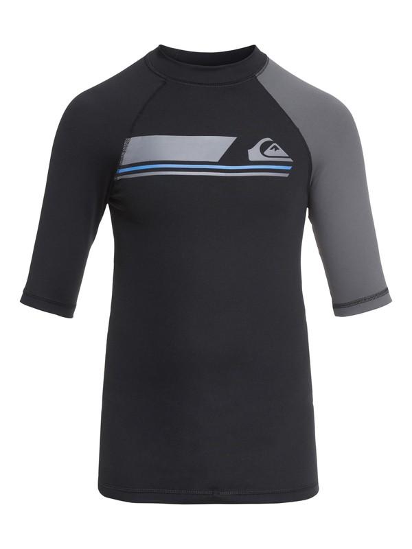 0 Active - Short Sleeve UPF 50 Rash Vest for Boys 8-16 Black EQBWR03036 Quiksilver