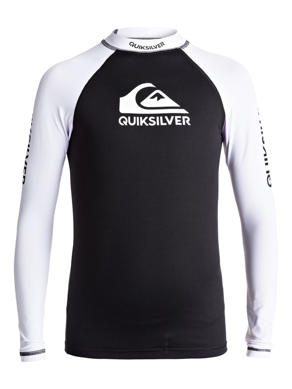 0 On Tours - Long Sleeve UPF 50 Rash Vest for Boys 8-16 Black EQBWR03040 Quiksilver