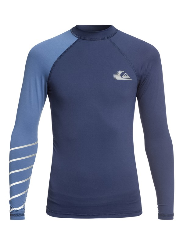 0 Boy's 8-16 Active Long Sleeve UPF 50 Rash guard  EQBWR03059 Quiksilver