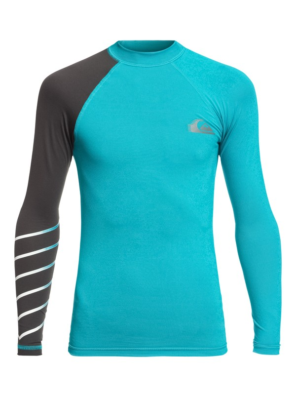 0 Boy's 8-16 Active Long Sleeve UPF 50 Rash guard Blue EQBWR03059 Quiksilver