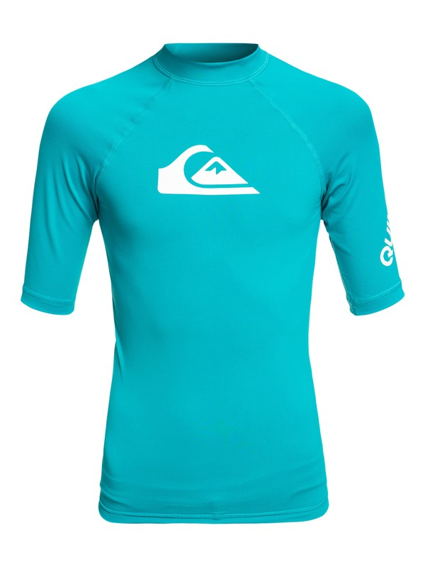 0 Boy's 8-16 All Time Short Sleeve UPF 50 Rash Guard  EQBWR03060 Quiksilver