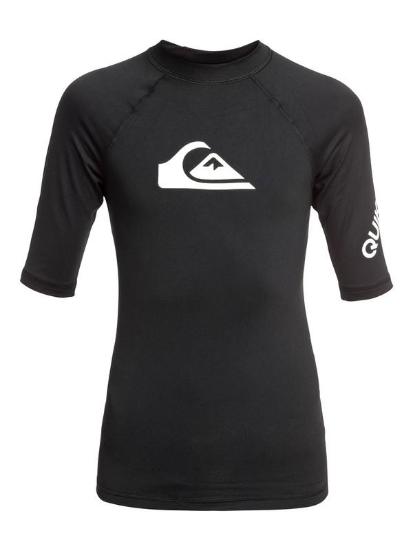 0 Boy's 8-16 All Time Short Sleeve UPF 50 Rashguard Black EQBWR03074 Quiksilver