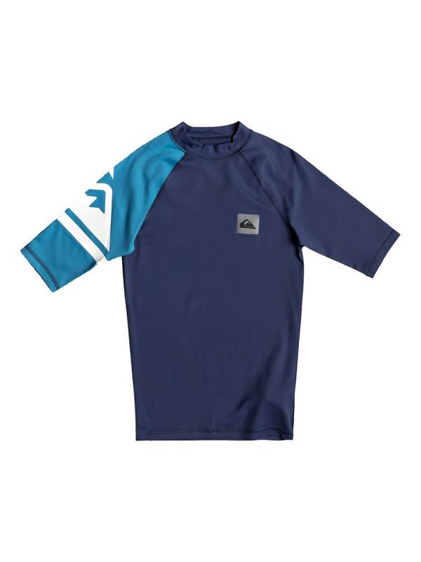 0 Детский рашгард c коротким рукавом Active UPF 50 Синий EQBWR03082 Quiksilver