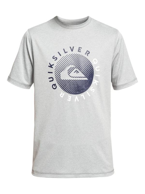 0 Boy's 8-16 Razors Short Sleeve UPF 50 Surf Tee Grey EQBWR03083 Quiksilver