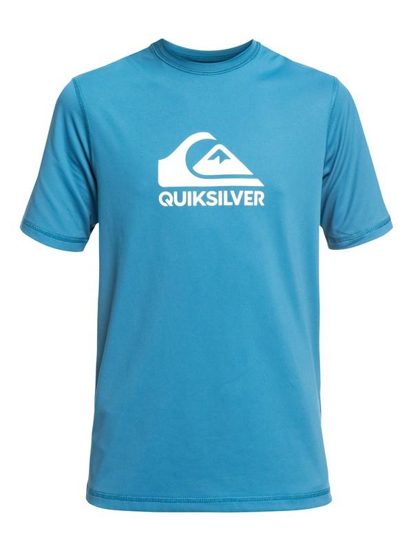 0 Boy's 8-16 Solid Streak Short Sleeve UPF 50 Surf Tee Blue EQBWR03084 Quiksilver