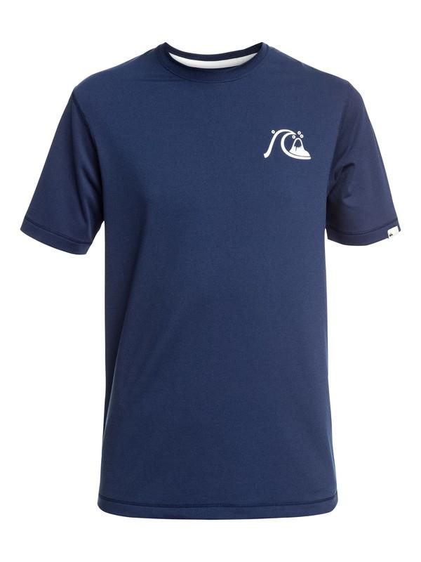 0 Bubble Logo - Camiseta de Surf de Manga Corta con Protección Solar UPF 50 para Chicos 8-16 Azul EQBWR03089 Quiksilver