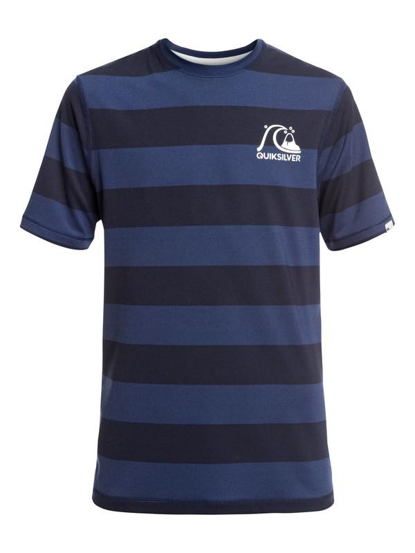 0 Stripe Sea - Camiseta de Surf de Manga Corta con Protección Solar UPF 50 para Chicos 8-16 Azul EQBWR03090 Quiksilver