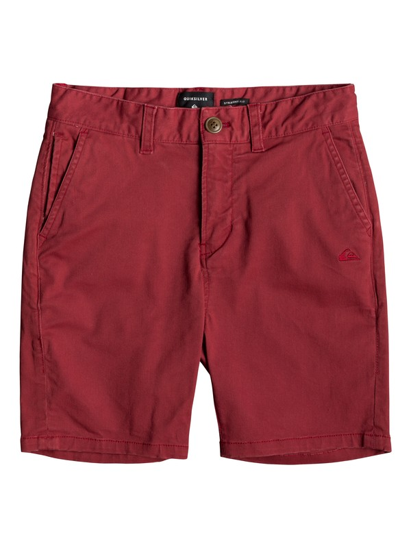 0 Krandy - Chino Shorts for Boys 8-16 Red EQBWS03221 Quiksilver